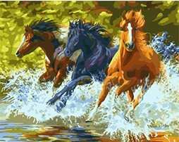 MaHuaf-X782 horse riding painting paint by numbers animal DIY digital Hand-painted canvas oil paintings for living room decor