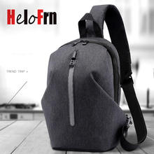 HeloFrn Creative Men Chest Bag Waterproof Oxford Crossbody Sling Travel Casual Check Pack