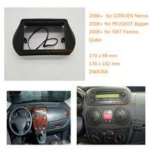 Два Дин радио фасции для FIAT Fiorino Qubo 2008+ для CITROEN Nemo 2008+ для PEUGEOT