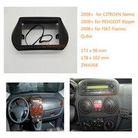 Two din Car Radio fascia for FIAT Fiorino Qubo 2008+ for CITROEN Nemo 2008+ for PEUGEOT