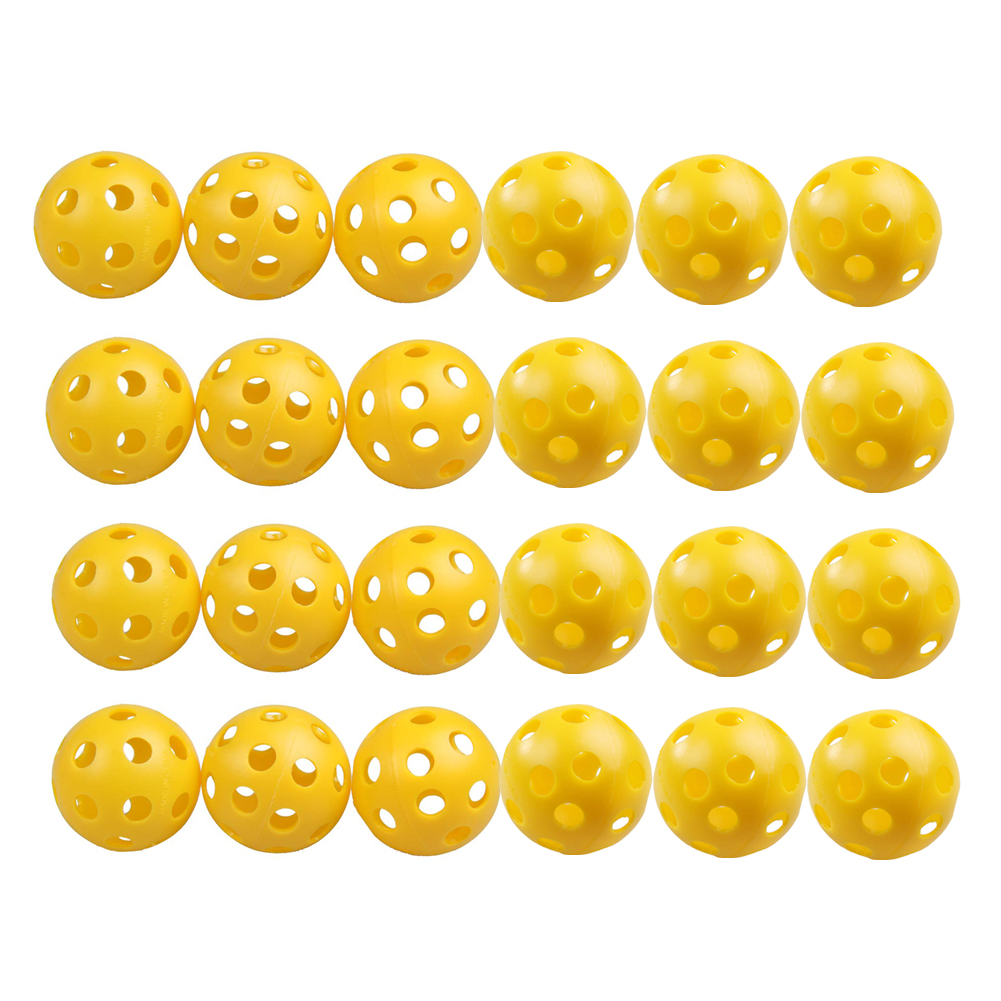 24Pcs/Lot Plastic Whiffle Airflow Hollow Golf Practice Training Sports Balls