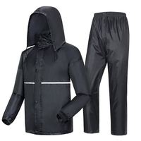 Thick double raincoat split suit cross border direct rain pants adult reflective bicycle electric motorcycle riding waterproof
