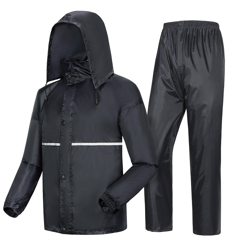 Thick double raincoat split suit cross-border direct rain pants adult reflective bicycle electric motorcycle riding waterproofThick double raincoat split suit cross-border direct rain pants adult reflective bicycle electric motorcycle riding waterproof