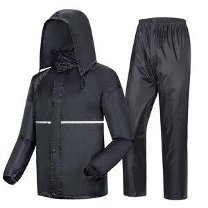 Image 1 - Thick double raincoat split suit cross border direct rain pants adult reflective bicycle electric motorcycle riding waterproof
