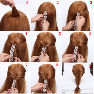 Image 3 - 6 Styles Lady French Hair Braiding Tool Weave Braider Roller Hair Twist Styling Tool DIY Accessories