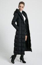 2018 новые женские зимние длинные пуховики с капюшоном ремень большой Размеры черный темно синий плюс утолщение пальто для будущих мам