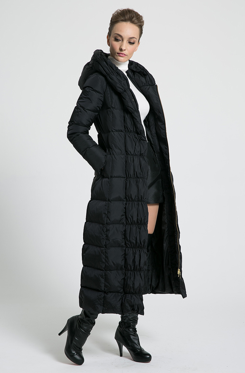 2018 new womens winter Long down jackets hooded belt big size black navy blue plus size thickening coats alfani new blue black colorblock womens size medium m boat neck sweater $59 092