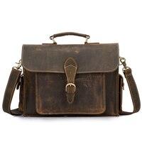 Neweekend Пояса из натуральной кожи Crazy Horse 15 дюймов коровьей Кроссбоди Мужские Портфели сумки ноутбук iPad сумка мужской Для мужчин Портфолио Tote