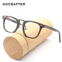 HDCRAFTE Retro Eyeglasses Frame Men Natural Wood Computer Optical Glasses Frames Women Wooden Transparent Lens Reading