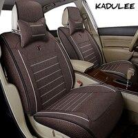 KADULEE flax car seat cover set for alfa 147 giulia giulietta mito toyota lada car seat protector Auto accessories car styling
