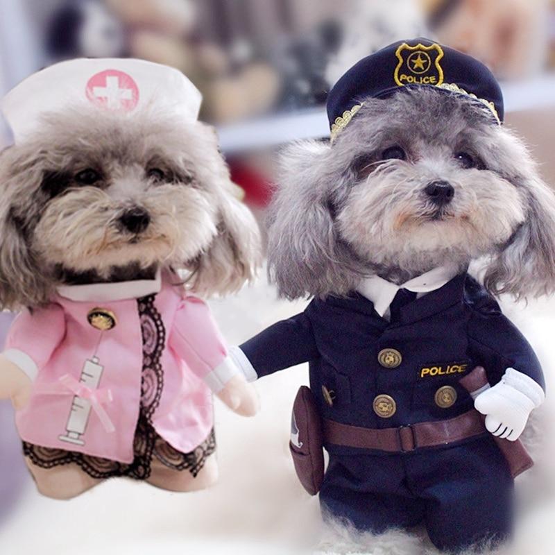 Kreatív kutyaruhák kis kutyák számára Ruházat Vicces kutyafélék Kutyakabátok Kabátok Karácsonyi Yorkies Chihuahua ruhák 11bY2S3
