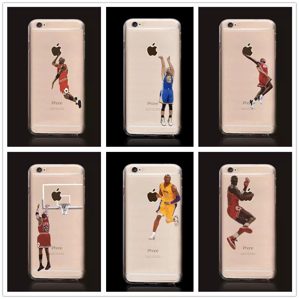 Новый Коби Брайант Стивен Карри Леброн Джеймс Майкл Джордан Баскетбол жесткого Пластика Задняя Крышка Чехол для <font><b>iPhone</b></font> 6 Плюс 6 s плюс
