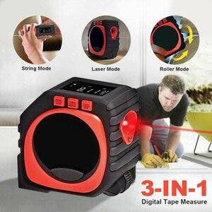 Image 3 - Laser entfernungsmesser Digital Band Multifunktionale 3 in 1 Messung Werkzeug Laser Level Laser Range Finder LCD Digital Display