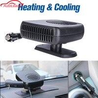 12 V 150 W Del Coche Auto Calefacción Calentador de Ventilador Portátil 2 en 1 Ventilador De Refrigeración de Calefacción Secador de Coche Parabrisas Defroster separador de partículas