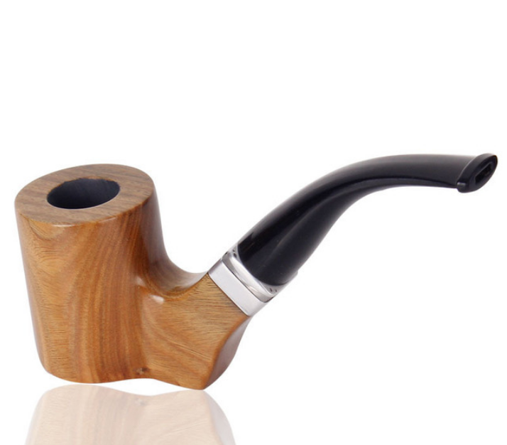 Hot Popular Creative Sold Wood Tobacco Pipe Top Grade Bent Smoking Pipe Cigar Tobacco Pipe Mouthpiece Cigarette Holder LFB435