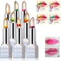 2016 Hot  Fashion Magic Temperature Change Color Moisturizer Full Lips Balm labial Transparent Flower Jelly Baby Lips Lipstick