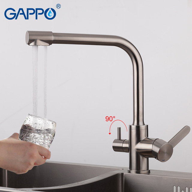 stainless steel water filter faucet. GAPPO kitchen mixer tap water filter faucet 304 stainless steel  drinking