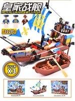 GUDI 312 pcs royal navire de guerre vasa pirates bateau navire de guerre grands Modèles Blocs de Construction éducatifs D'anniversaire Cadeau Compatible Legoe