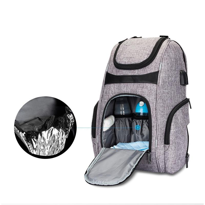 Mummy Bag Shoulder Multi-function Diaper Bag USB Milk Dad Pack Tiered Storage Back Milk Bag Waterproof Travel Business Bag