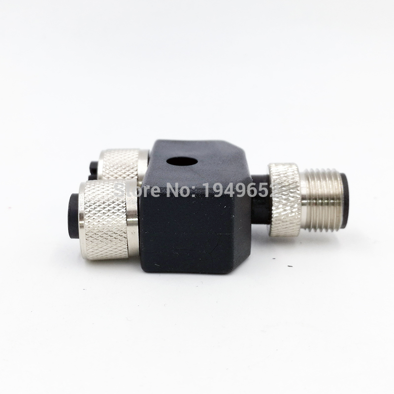 M12 three-way pipe waterproof sensor connector Conversion plug Male Female 4 5 pin 1pcs ss027 m12 waterproof aviation plug female male 8pin sensor encoder connector straight bent screw fixation non welding