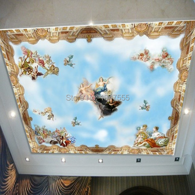 Buy desktop wallpaper 3d murals top for Ceiling sky mural