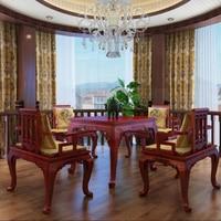 Палисандр набор мебели для дома 1 стол и 4 стула жизни Обеденная Redwood стол Аннато кресло из массива дерева Carven Настраиваемые