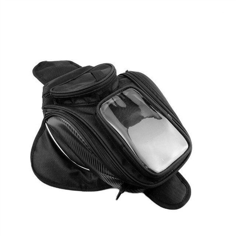 Quality Big screen Motorcycle tank bag motorbike oil fuel bag Magnetic Motorcycle Oil Fuel Tank Bike saddle bag motorcycle bag