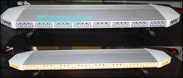 Yüksək ulduz 120cm DC12V 88W amber Led Car xəbərdarlıq lampası, - Avtomobil işıqları - Fotoqrafiya 4