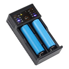 LED 2 Slots USB Intelligent Battery Charger with Power Bank Function for Ni-MH AA AAA for Lithium 18650 26650 18350 14500