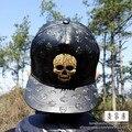 Новых людей мода череп свободного покроя хлопок скелет Snapback хип-хоп спорт регулируемые бейсболки