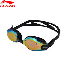Li-Ning 2018 Unisex Professional Swim Eyewear Anti-UV PC Goggles National Diving Team Li Ning Sports Swimming Glasses ASJN008(China)