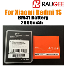 In Stock 100% Brand New 2000mAh BM41 Mobile Smart Phone Replacement Battery For Xiaomi Redmi 1S With Free Shipping