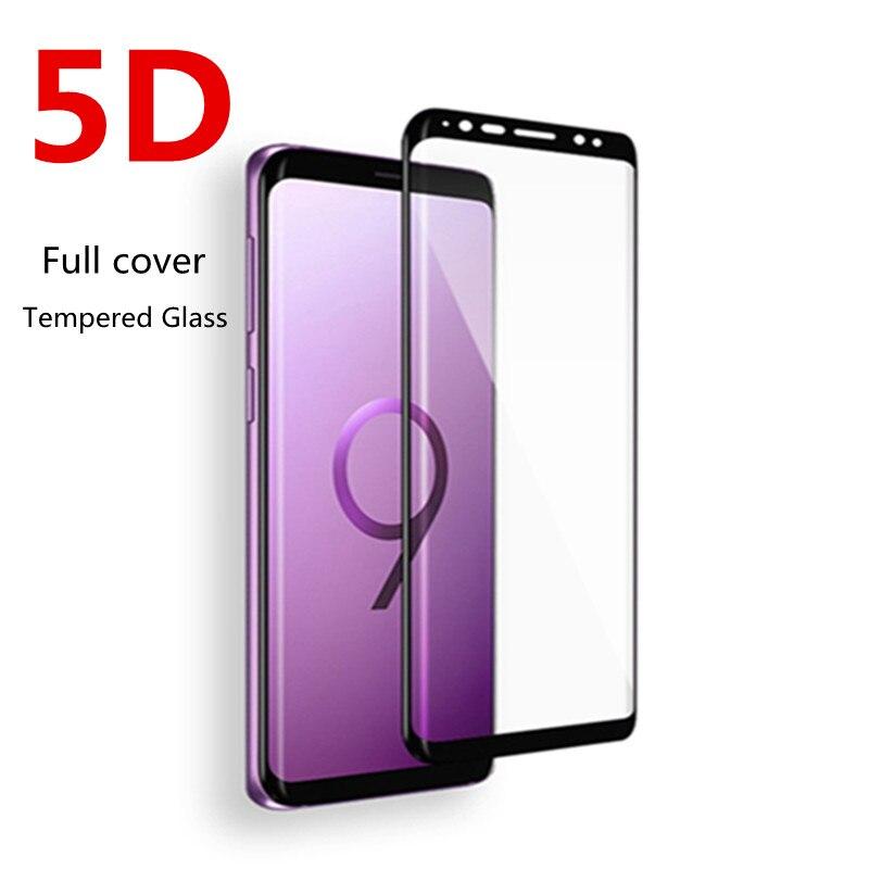 5D Curvo Completa Tampa de Vidro Temperado Para Samsung Galaxy S8 8 S9 Além de Filme Protetor de Tela Para Samsung Galaxy Note s7 Borda de Vidro