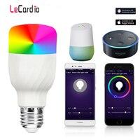 Yeni E27 RGBW LED Lamba WiFi Akıllı Ampul 7W Dim Renkli Uyandırma Alexa ile Uyumlu ve Google Asistan