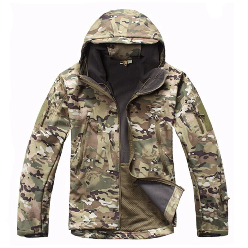 Camouflage TAD V4.0 Jacket Lurker Shark Skin Soft Shell Tactical Jacket Waterproof Windproof Sports Jacket Multicam