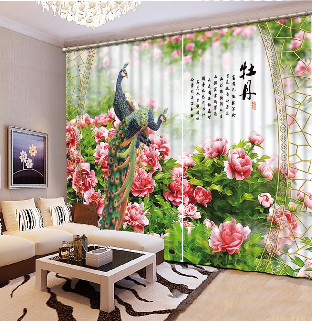 Customize 3d Blackout Curtains Peacock Landscape Curtains For Living Room Kitchen  Curtains Modern Curtains In Curtains From Home U0026 Garden On Aliexpress.com  ...