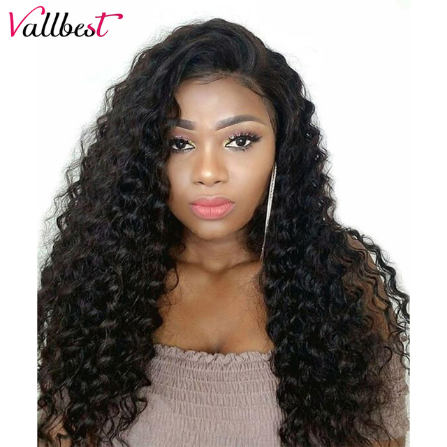 Vallbest 150% Density Brazilian Deep Wave 360 Lace Frontal Wig Pre Plucked  With Baby Hair Remy Human Hair 360 Lace Wig For Women b110360d1d