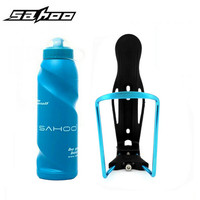 Details About Cycling Bike Bicycle 700ml Water Bottle Blue Aluminum Holder Cages Mounte Blue