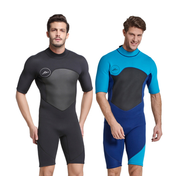 Men Scuba Diving Suits Short Sleeve 2MM Neoprene Diving Wetsuit Surfing Winter warm Swimming jumpsuits Snorkeling Swimsuits