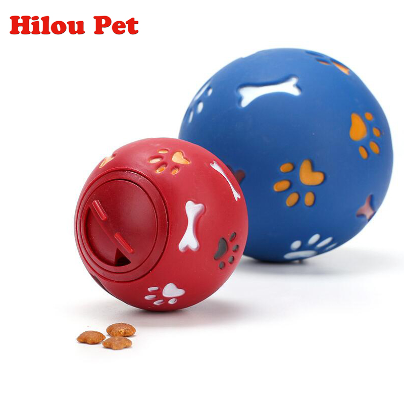 New Pets Dog Toy Eco-friendly Rubber Ball Toys for Dog food leaking Balls Chew Toys Training Food Control Lose Weight