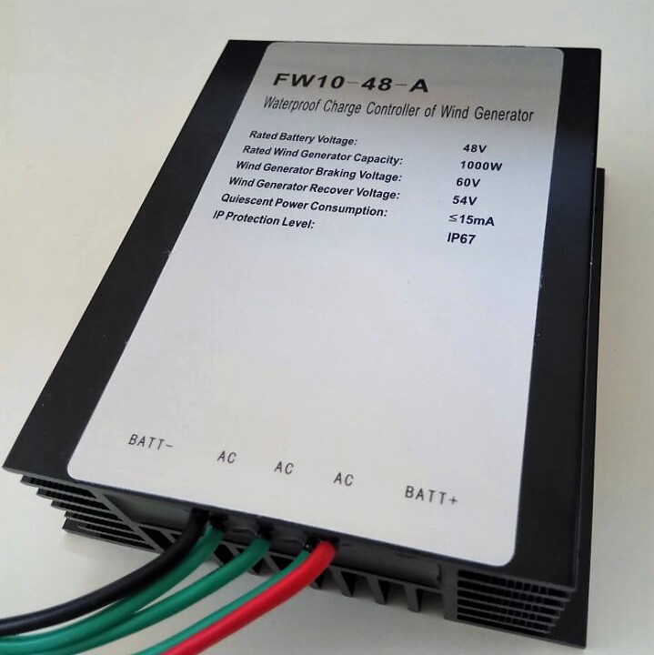 Wind Charge Controller 1000w 48v 24v AC to DC for 1kw wind turbines or 1000watts permanent magnet generators