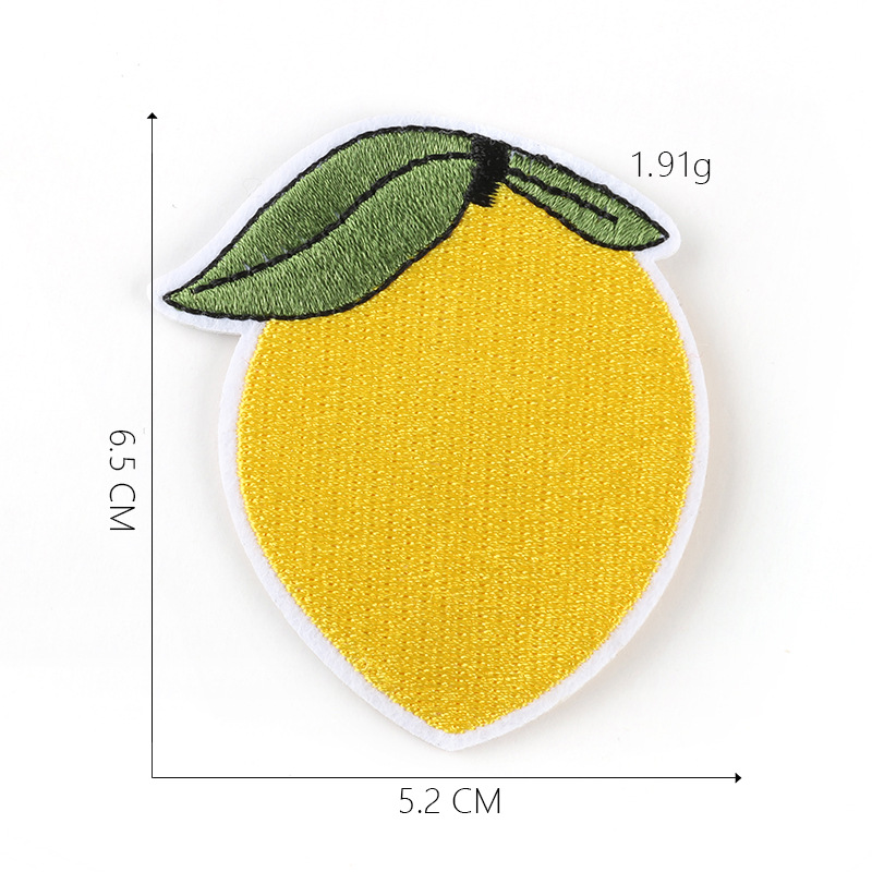 100pcs Pineapple Fruit Patches Iron On Or Sew Fabric Sticker For Clothes Badge Embroidered Appliques DIY in Patches from Home Garden