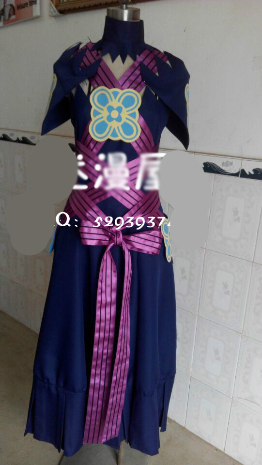 Fire Emblem If Fates Aqua Dress Cosplay Costume Custom Made wit gloves and sleevs
