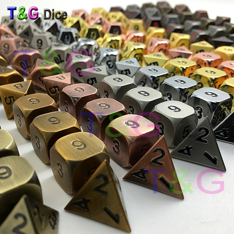 Metal Elven Dice Set of 10pcs for Role Playing Game role of regular