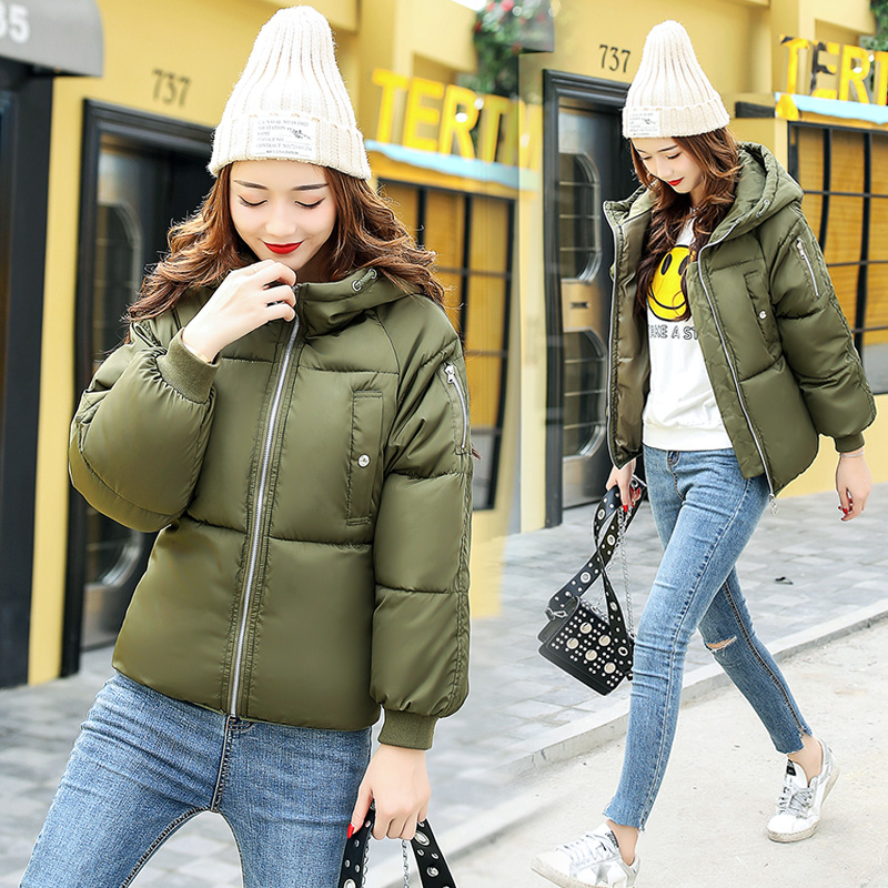 Winter Jacket Women 2017 New Female 5 Color Slim Cotton-padded Jackets Fashion Short Hooded Zipper Parkas Coats A1013B#16601 winter jacket women 2017 new female 5 color slim cotton padded jackets fashion short hooded zipper parkas coats a1013b 16601