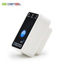 Новый Супер Мини ELM327 Wi-Fi с выключателем работы с iphone OBD-II OBD Может код читателя инструмент Бесплатная доставка