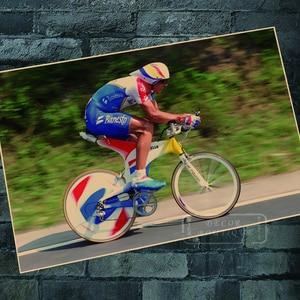 1995: Великая Мигель индюраин для езды на велосипеде, классические наклейки на стену, холст, винтажный постер, домашний декор, подарок