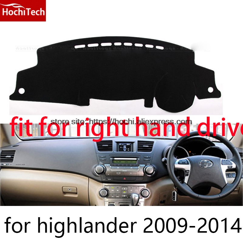 For toyota Highlander right hand drive dashboard mat Protective pad black car-styling Interior Refit Sticker Mat products