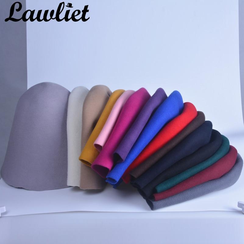 1657e5210d1a Para Mujer 100% fieltro de lana sombrero cubo sombreros de cono ...