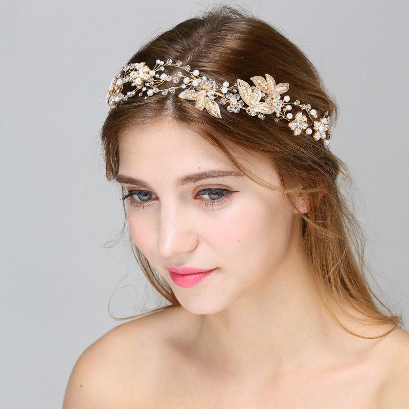 Wedding Crown Hair: Aliexpress.com : Buy Floral Pearl Hair Vine Wedding Crown